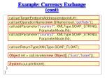 example currency exchange cont