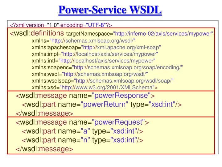 Power-Service WSDL