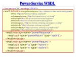 power service wsdl