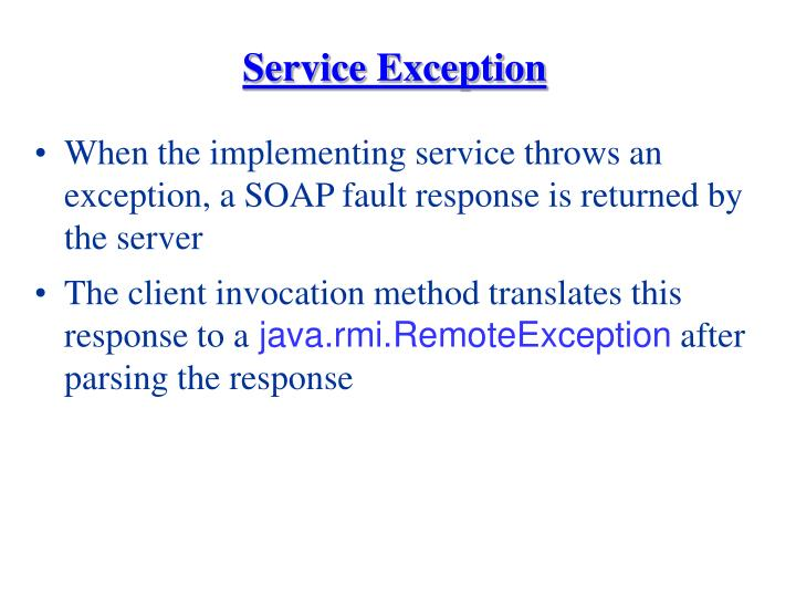 Service Exception