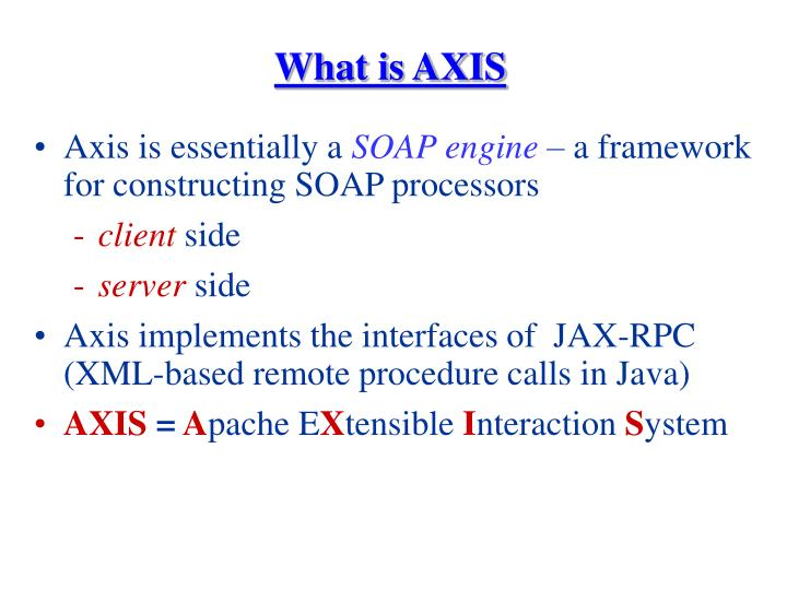 What is AXIS
