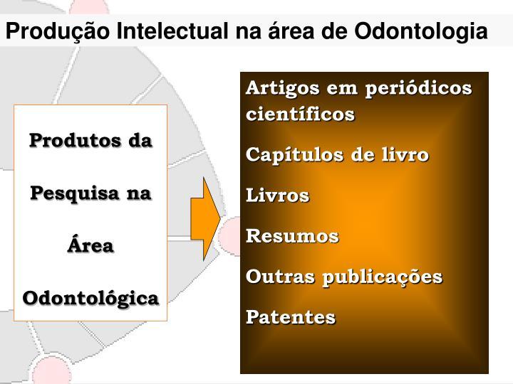 Produção Intelectual na área de Odontologia