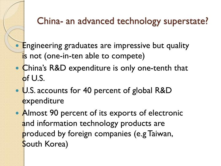 China- an advanced technology