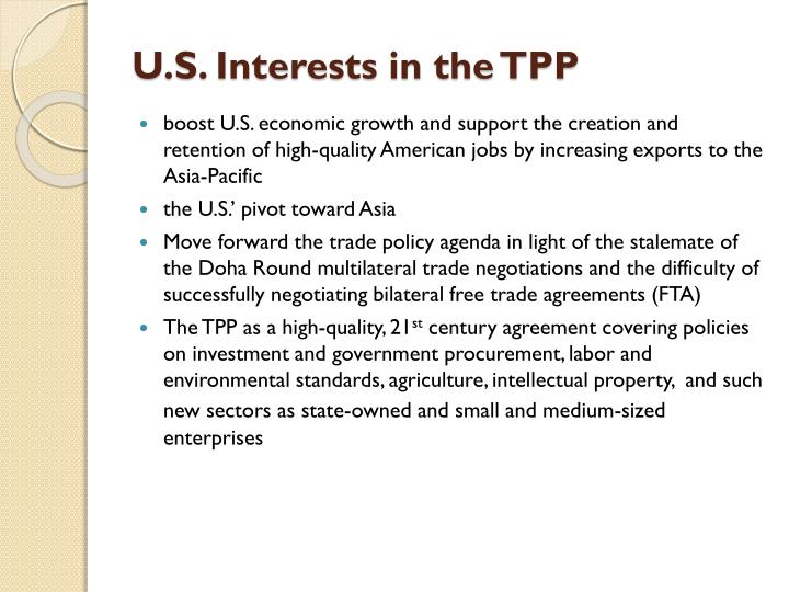 U.S. Interests in the TPP