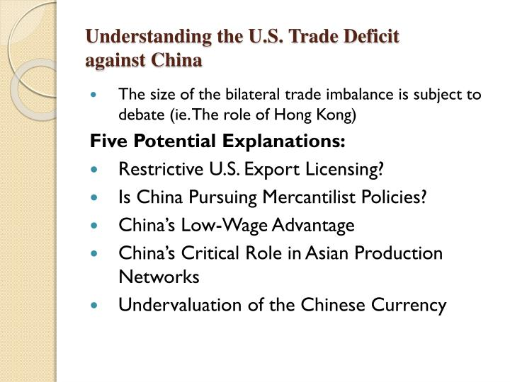 Understanding the U.S. Trade Deficit