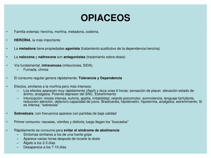 OPIACEOS