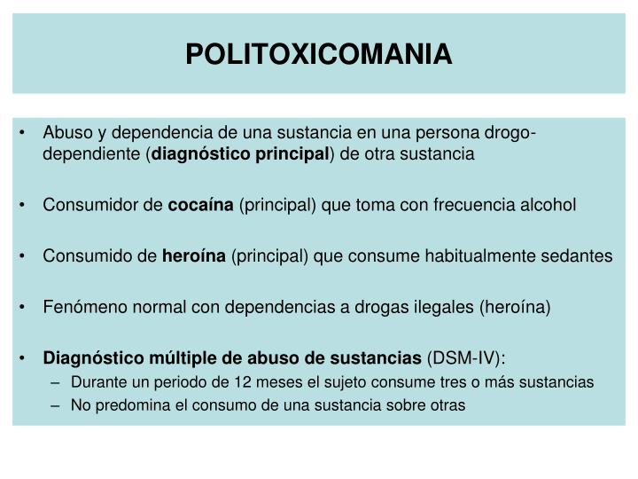 POLITOXICOMANIA