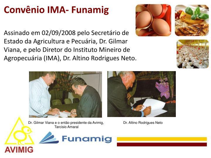 Convênio IMA- Funamig