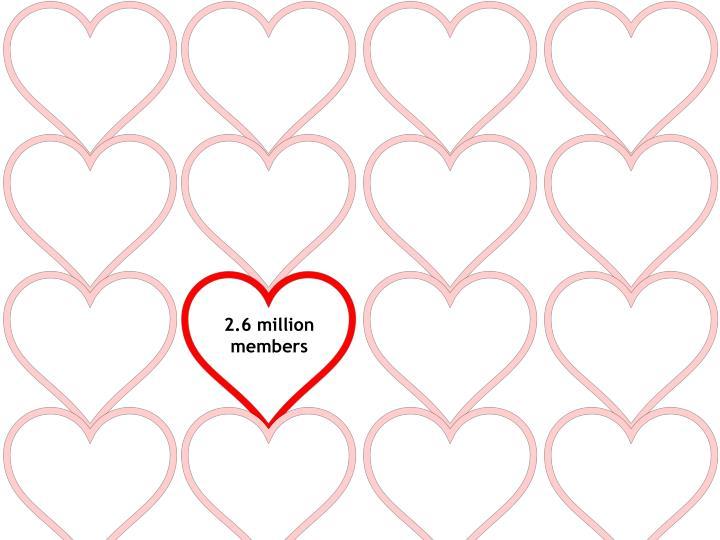 2.6 million members