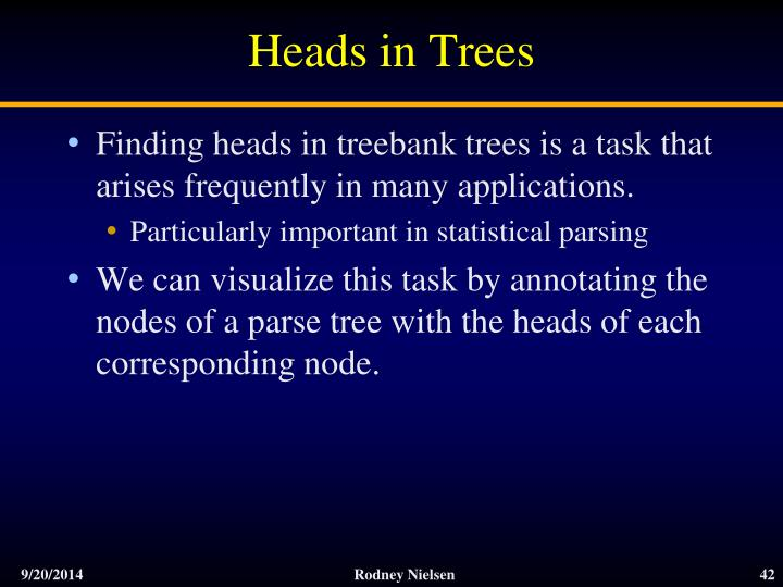 Heads in Trees