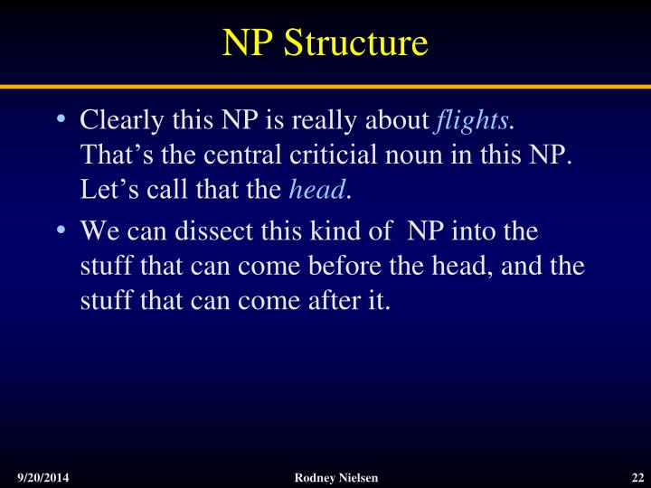 NP Structure