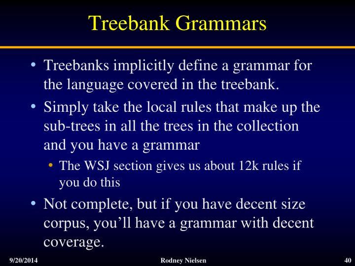 Treebank Grammars