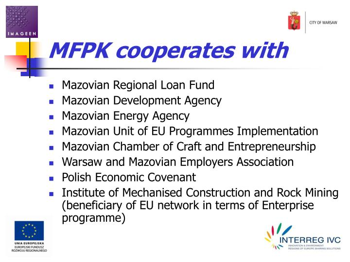 MFPK cooperates with