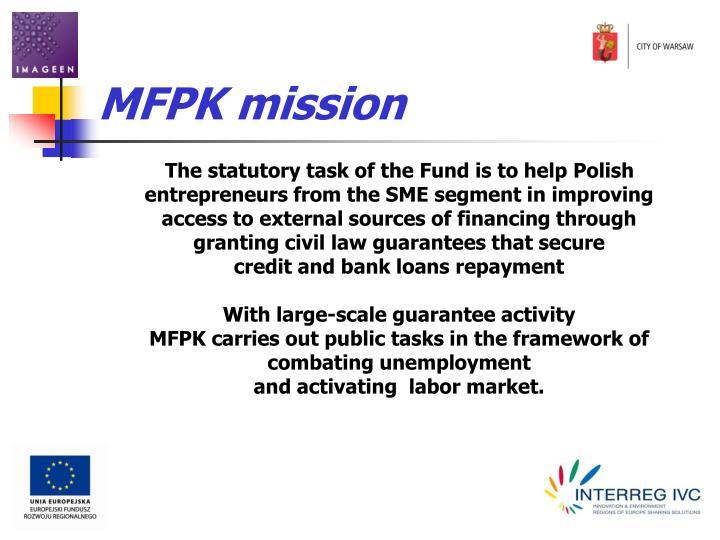 MFPK mission
