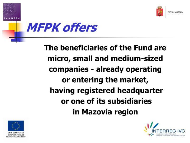 MFPK offers