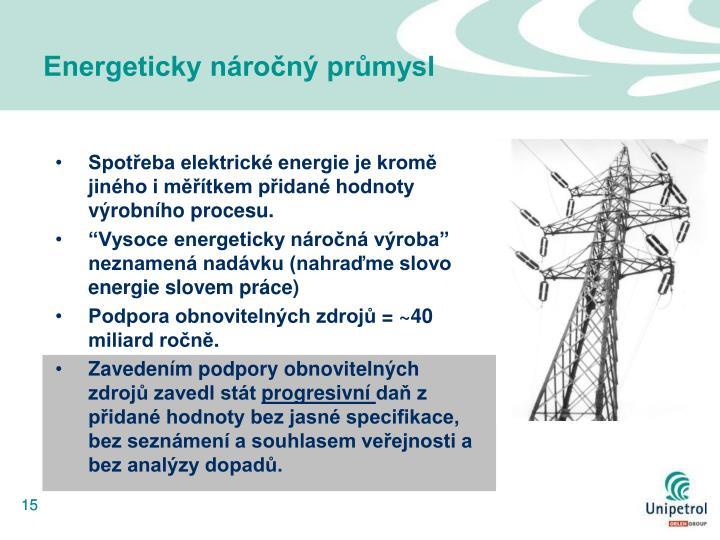 Energeticky náročný průmysl