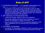 role of afp