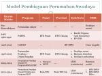 model pembiayaan perumahan swadaya