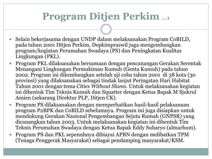Program Ditjen Perkim