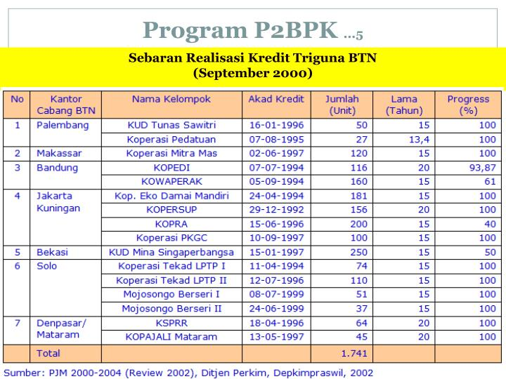 Program P2BPK