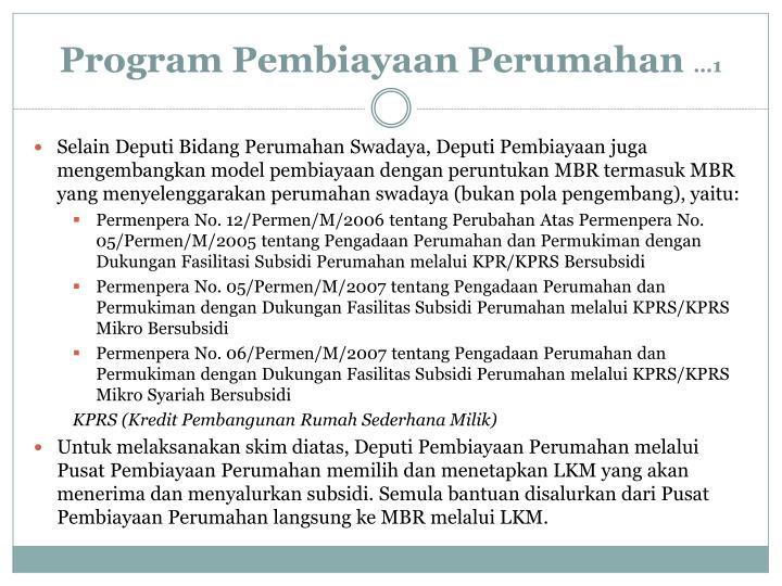 Program Pembiayaan Perumahan