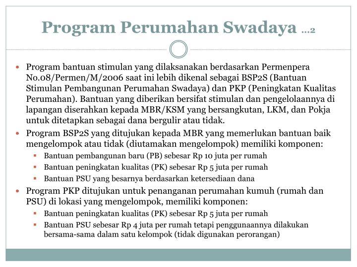 Program Perumahan Swadaya