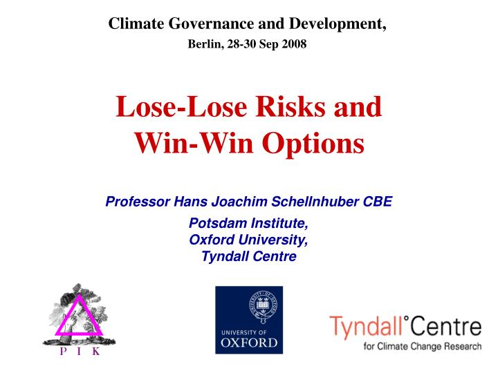 Climate Governance and Development,