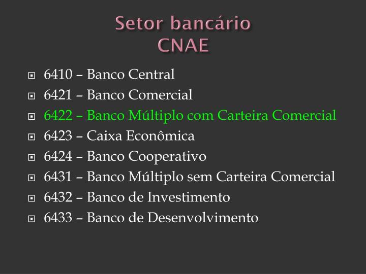 Setor bancário