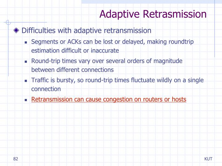 Adaptive Retrasmission