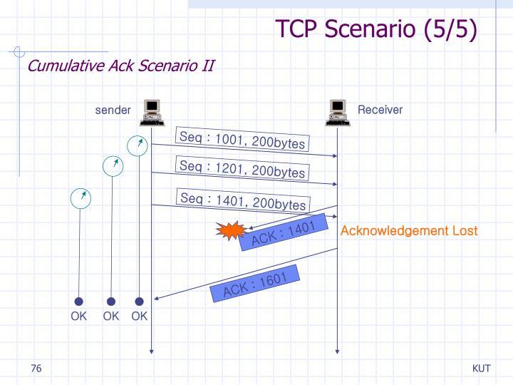 TCP Scenario (5/5)