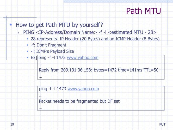 Path MTU