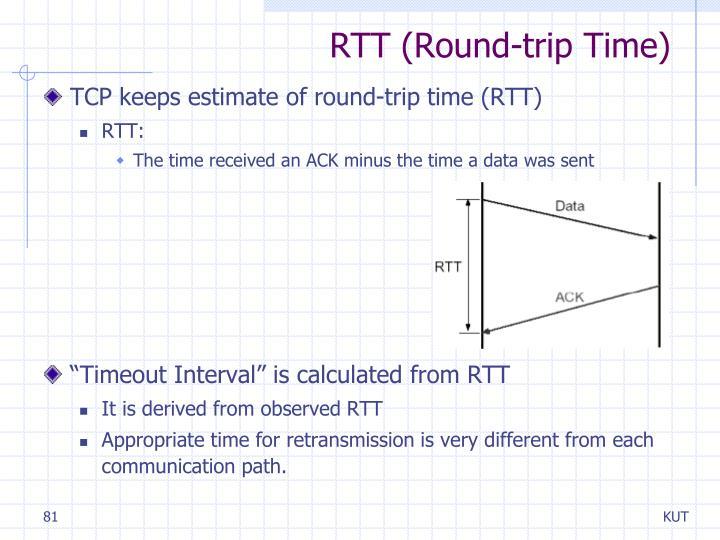 RTT (Round-trip Time)