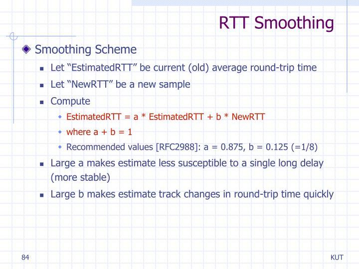 RTT Smoothing