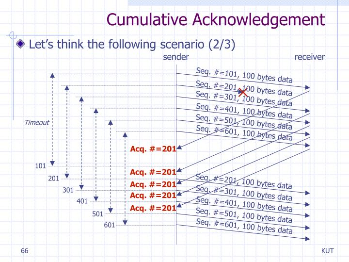 Cumulative Acknowledgement