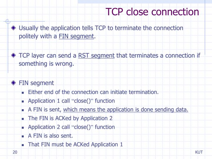 TCP close connection
