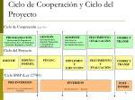 ciclo de cooperaci n y ciclo del proyecto