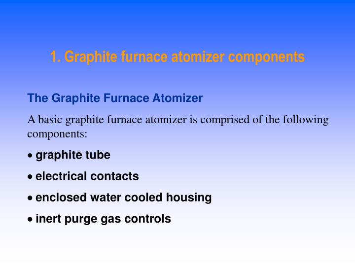1. Graphite furnace atomizer components