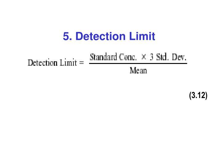 5. Detection Limit