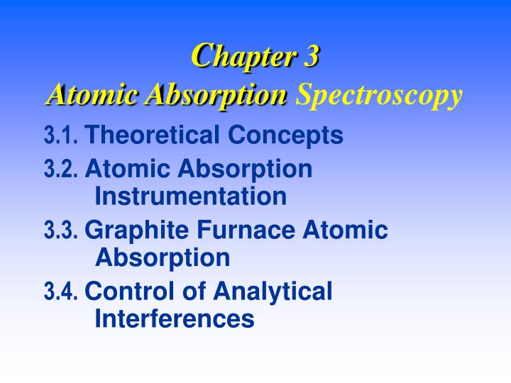 C hapter 3 atomic absorption spectroscopy