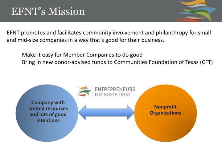 EFNT's Mission