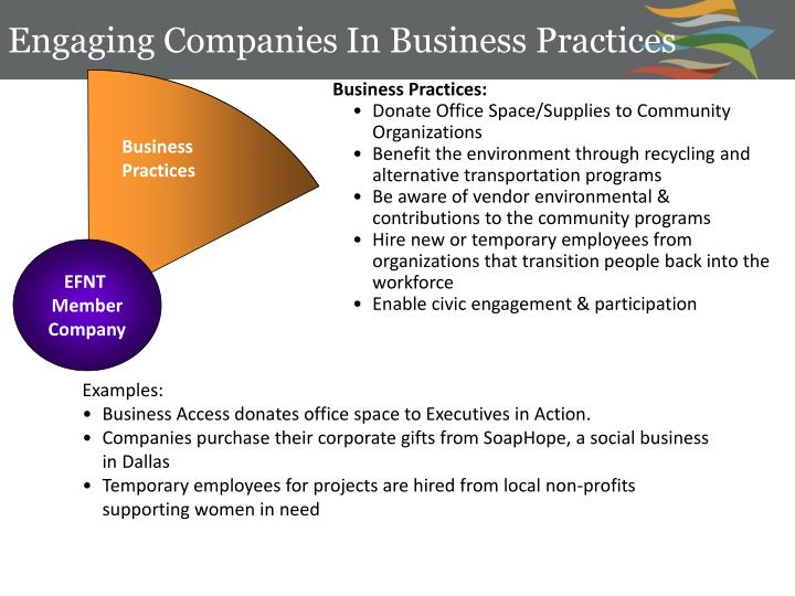 Engaging Companies In Business Practices