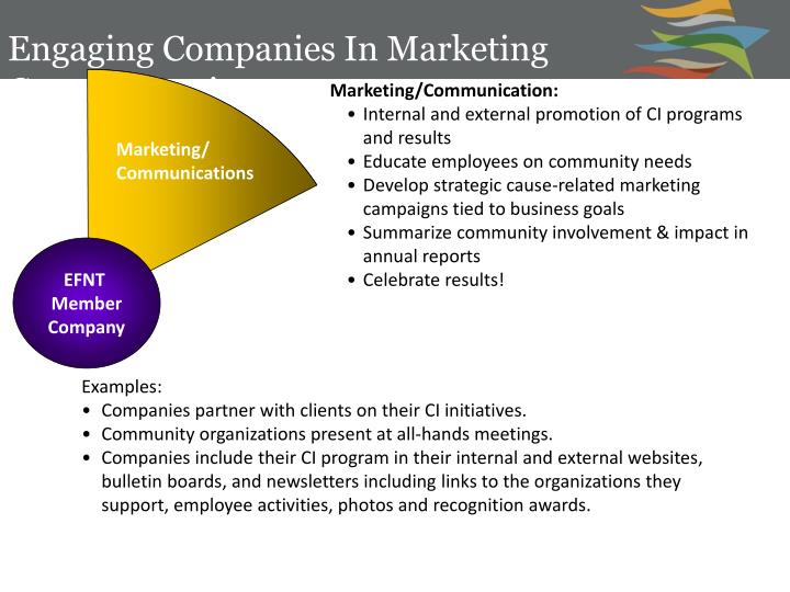Engaging Companies In Marketing Communications