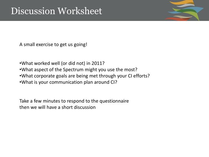 Discussion Worksheet