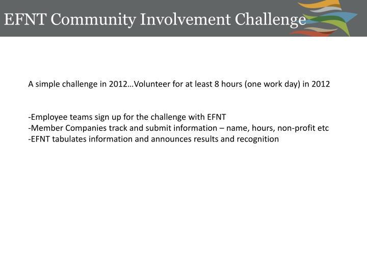 EFNT Community Involvement Challenge