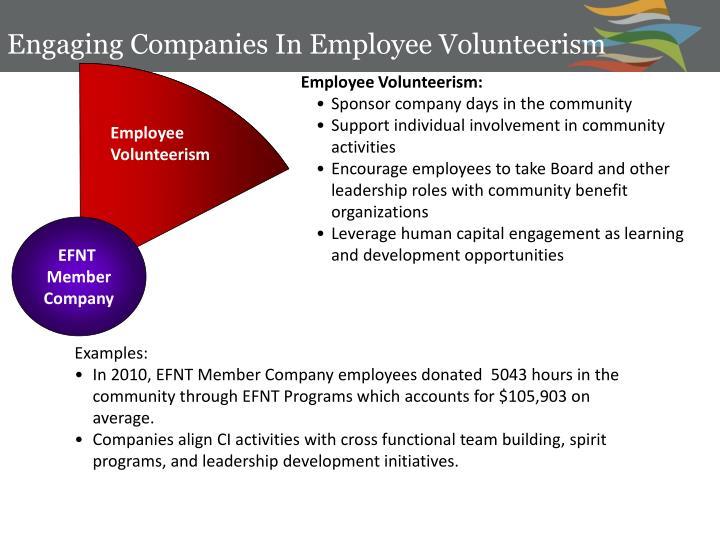 Engaging Companies In Employee Volunteerism