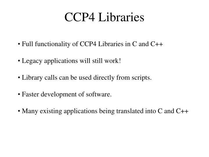 CCP4 Libraries