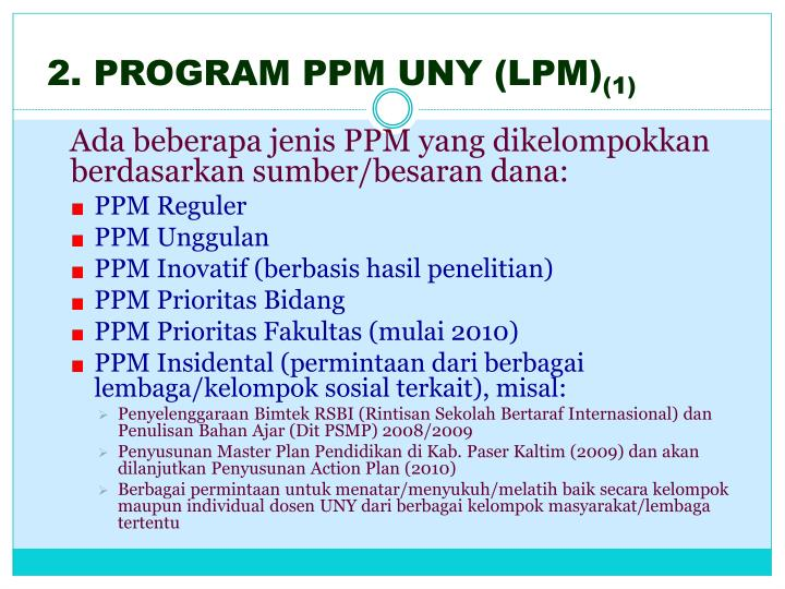 2. PROGRAM PPM UNY (LPM)