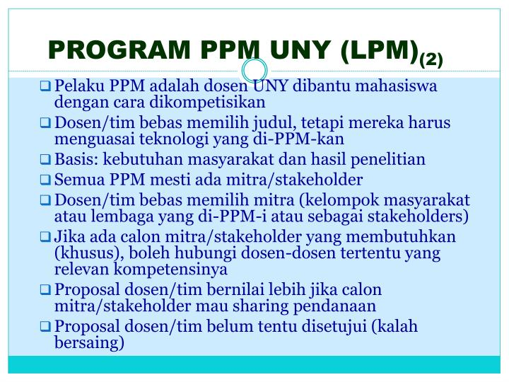 PROGRAM PPM UNY (LPM)