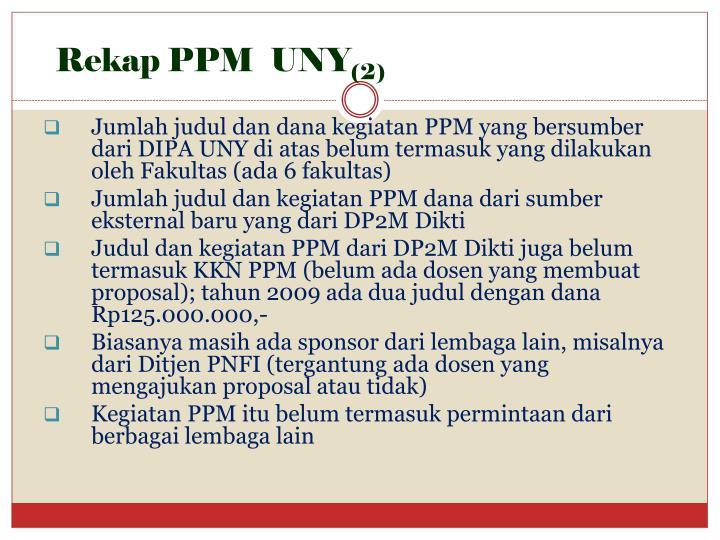Rekap PPM  UNY