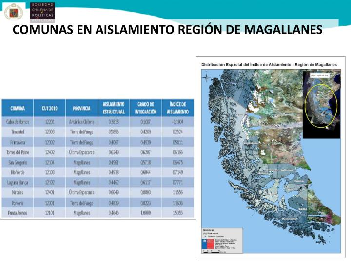 COMUNAS EN AISLAMIENTO REGIÓN DE MAGALLANES
